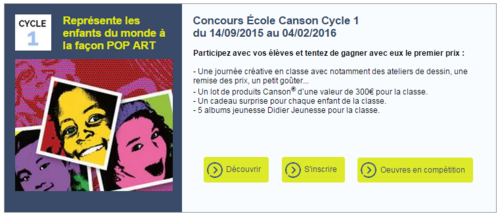 Concours Canson 2016
