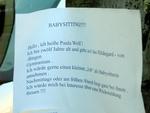 Babysitter-Angebot
