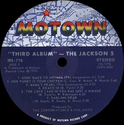 "The Jackson 5 : Album "" Third Album "" Motown Records MS-718 [ US ]"