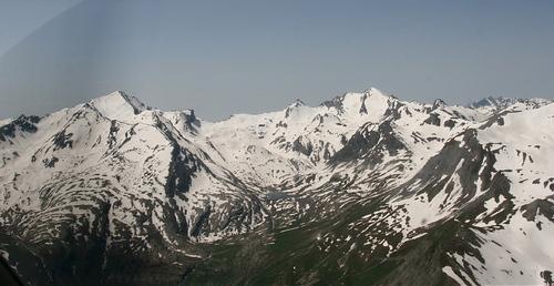 Haut du vallon du Lauzanier : Tête de l'Enchastraye, pas de la Cavale