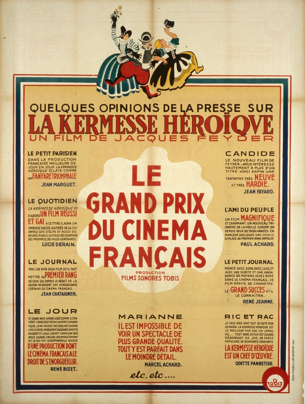 """Affiche de la """"Kermesse héroïque"""", non signée, 1935 / DR, fonds CF"""