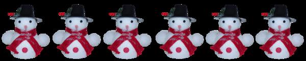 Barres de séparation bonhomme de neige