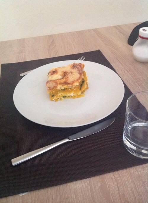 lasagne de courge butternut