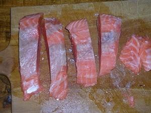 4 pavés de saumon