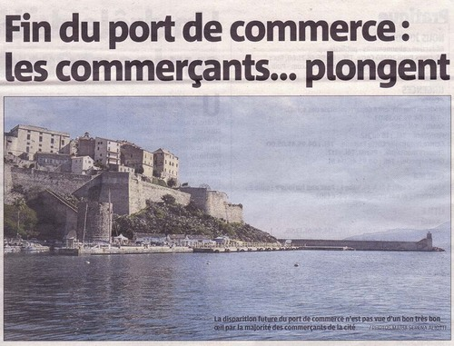 Port de commerce Article de Corse Matin du 17 04 2015