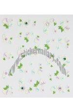 Stickers d'ongles fraises et fleurs en été