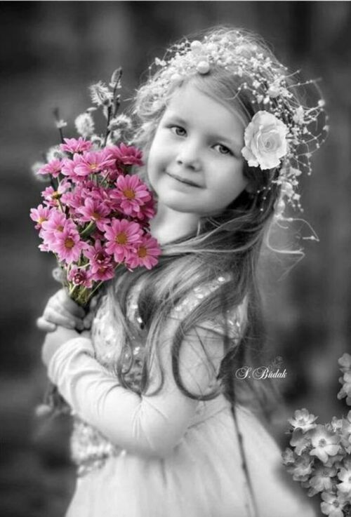 Fleurs et enfants