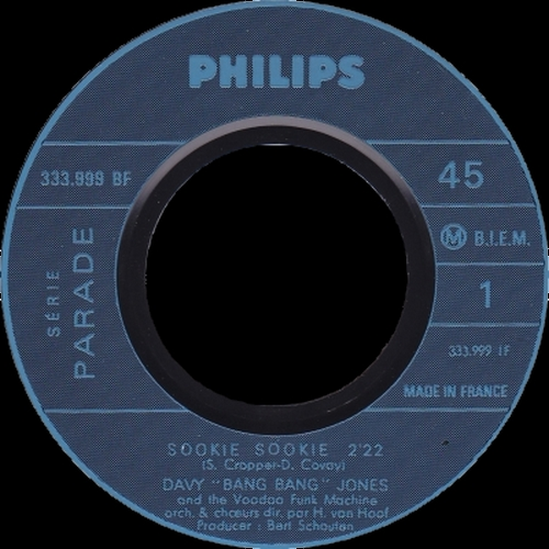 1968 : Single SP Philips Records 333.999 BF [ FR ]