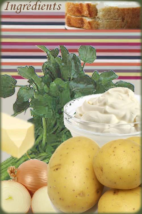 Recette de cuisine : Crème de cresson et pommes de terre