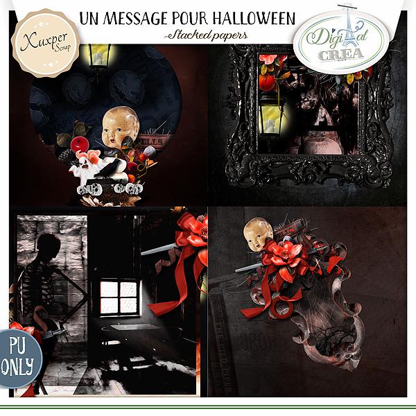 Un message pour Halloween by Xuxper Designs