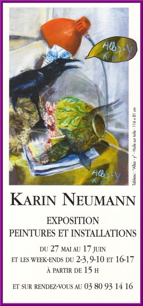 Karin Neumann exposera ses peintures et installations 2018 à Nesle et Massoult, du 27 mai au 17 juin
