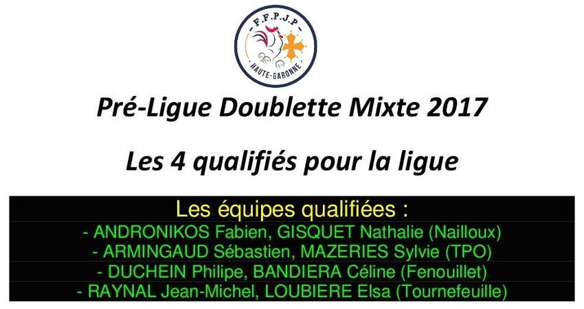 Q.Ligue Doublette Mixte Haute-Garonne.