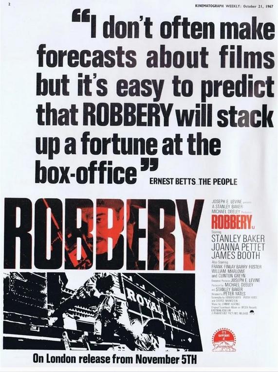 ROBBERY box office usa 1967