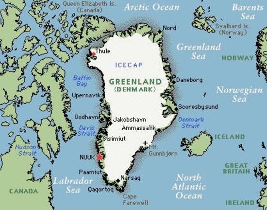 greenland carte