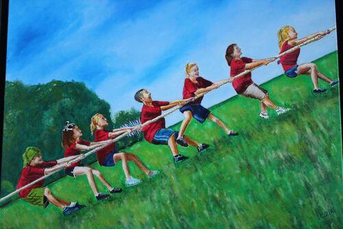 N° 17  Enfants tirant à la corde