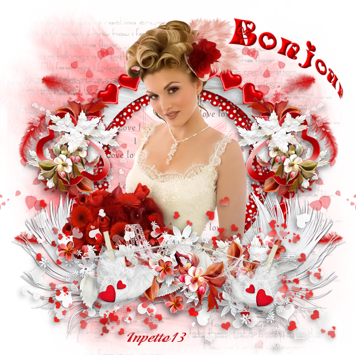 Scraps Bonjour  rouge Love