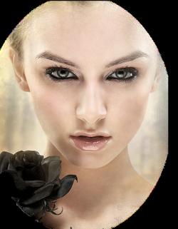 Tube nők arckép