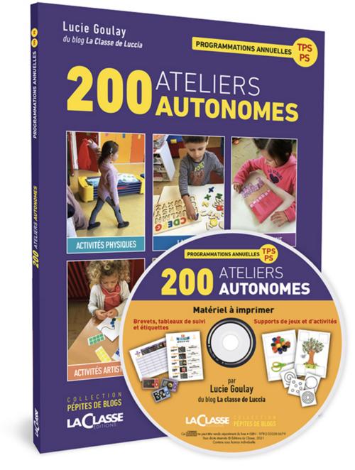 """Mon livre """"200 ateliers autonomes en TPS/PS"""" est sorti ! 29 avril 2021"""