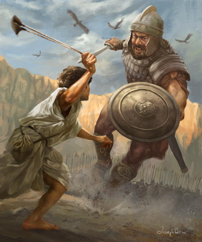 David and Goliath by JosephQiuArt