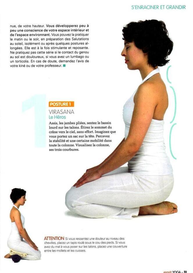 Séance de yoga pour délier la colonne vertébrale