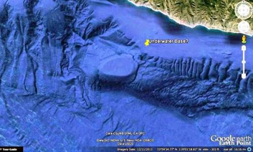 Entrée géante immergée trouvée au large de la côte de la Californie