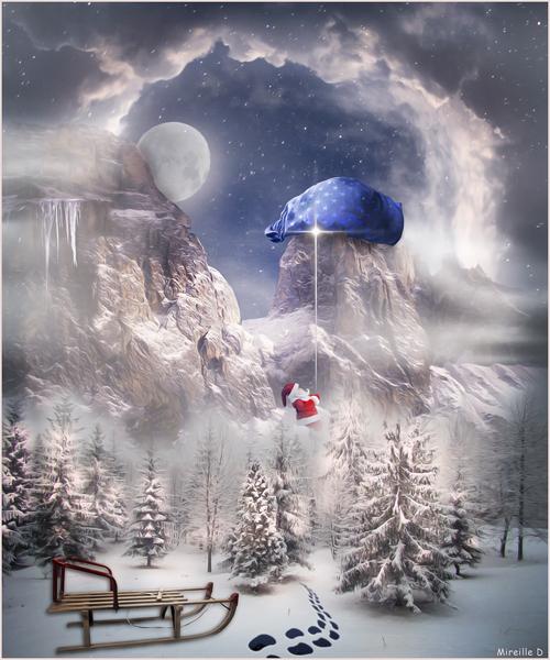 Escalade du Père Noël