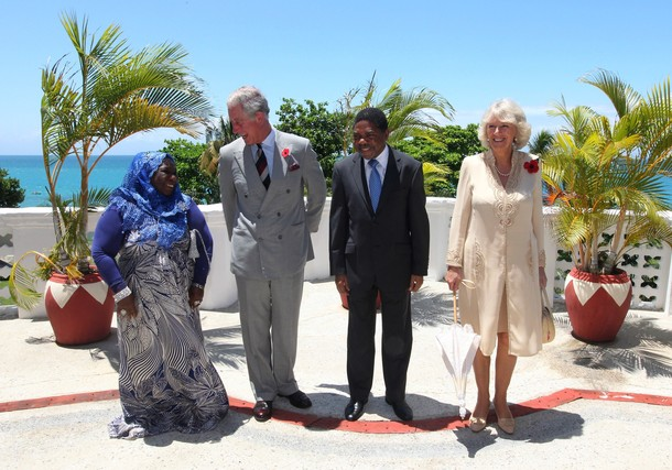 Charles et Camilla chez le président
