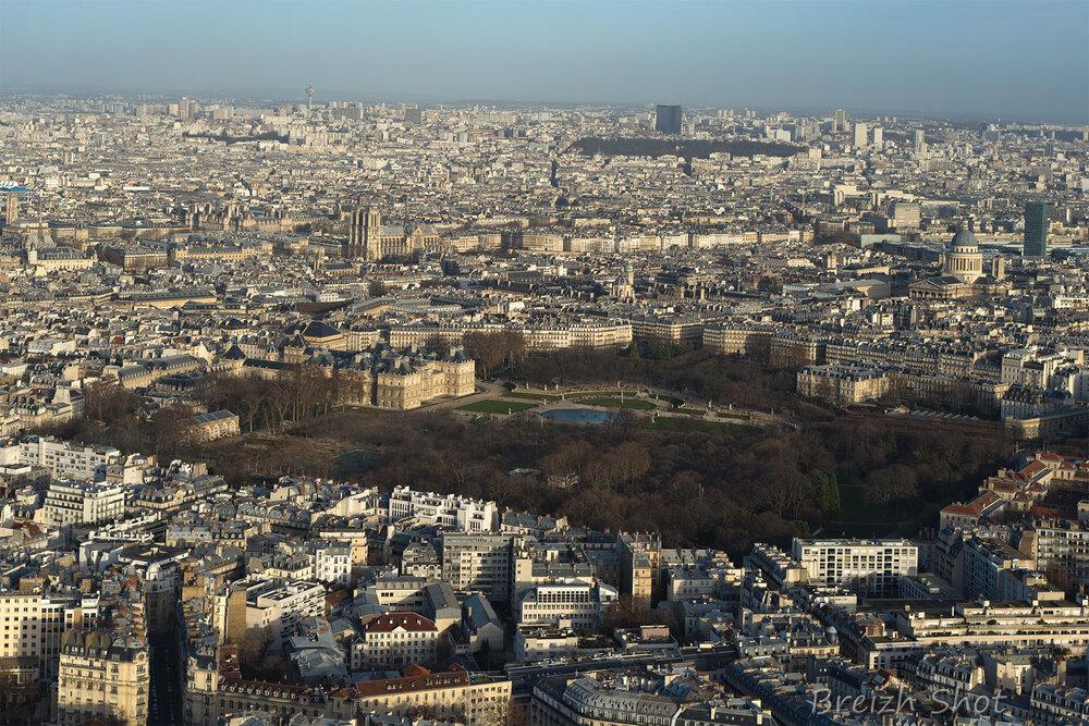 Panorama de Paris  terrasse panoramique  Tour Montparnasse