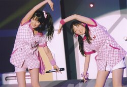 Sayumi Michishige 道重さゆみ Mizuki Fukumura 譜久村聖 Morning Musume Concert Tour 2012 Haru Ultra Smart
