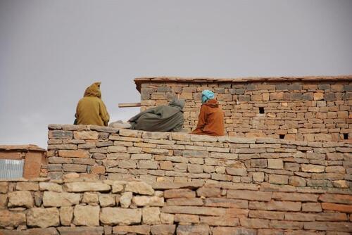 Chibanis en burnous de laine