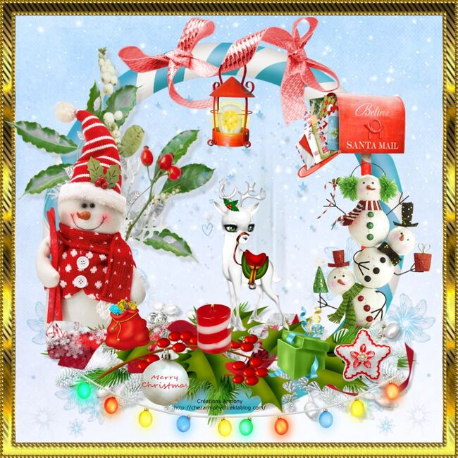 Super Tag de Noël + Cluster + Fond 5