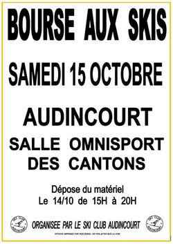 Bourse aux skis 15/10/15