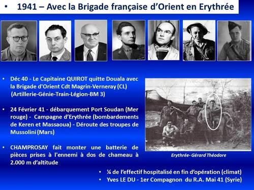 * Les Compagnons de la Libération du 1er Régiment d'Artillerie (1er R.A.)