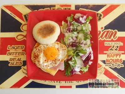 Muffins anglais jambon fromage & œuf au plat