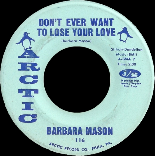 "Barbara Mason : Album "" Yes , I'm Ready "" Arctic Records A-LPS 1000 [ US ] en 1965"