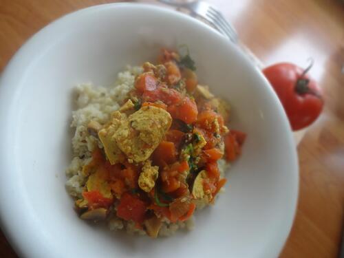 Millet aux légumes et épices
