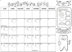 calendrier individuel pour les élèves