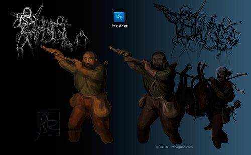 Souracines - Retour de chasse - Porteurs de musaraigne