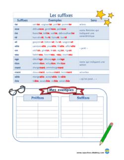 Préfixes Suffixes
