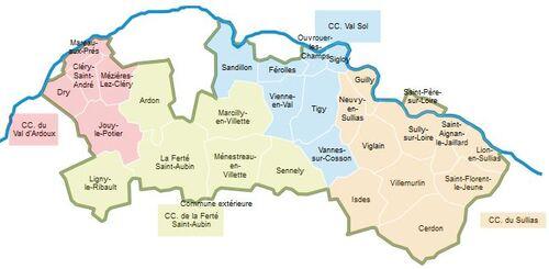 Carte du  Pays Sologne Val Sud