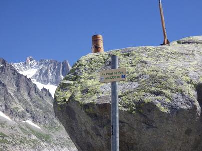 Glacier d'Argentière point de vue