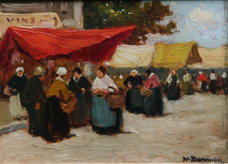 """Résultat de recherche d'images pour """"scénes de marché en bretagne peintres bretons"""""""