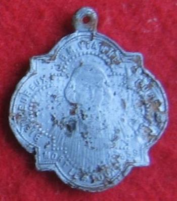 Sortie détection du 31 octobre 2015 médaille religieuse alu avers