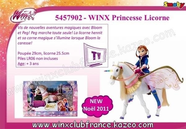 smoby 2 winx princesse licorne