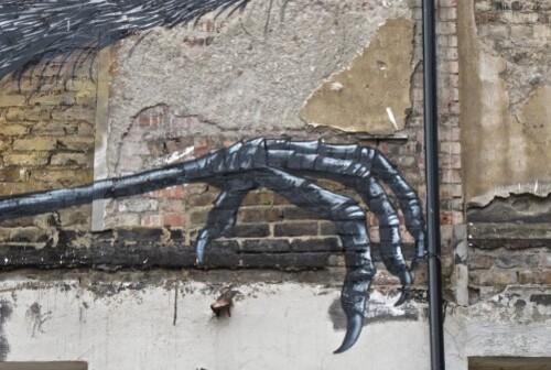Londres Hanbury street-art Roa héron 1