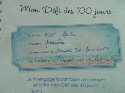 Défi des 100 Jours : Pour une Vie Extra-ordinaire