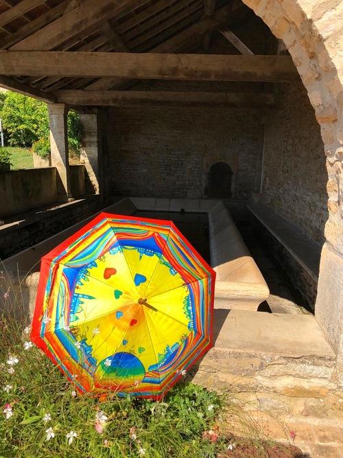 Parapluies en Bourgogne