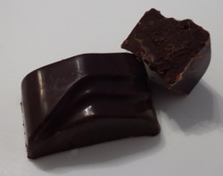 Chocolat noir, ganache chocolat noir & café