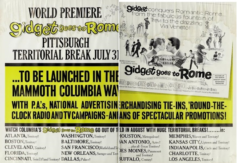 GIDGET GOES TO ROME BOX OFFICE 1963