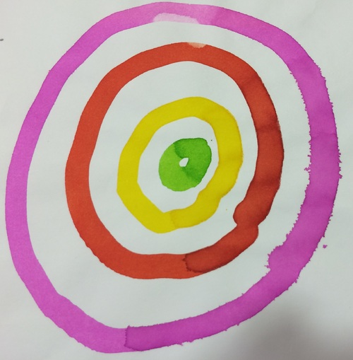 Exercices graphiques pour les moyens, période 2 et 3: les ronds